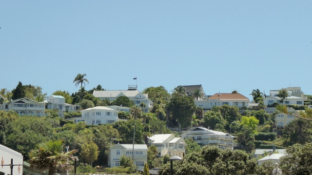 Lovely homes overlooking the town and sea.