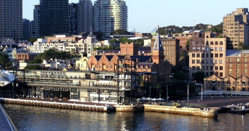 The Overseas Passenger Terminal at Circular Quay and The Rocks.