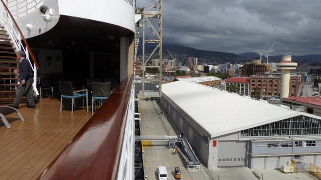 Docked in Hobart, Tasmania