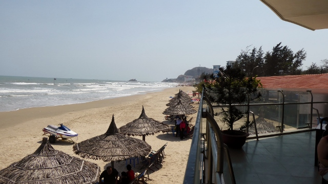 At the So Vang Restaurant, on the beach, in Vung Tau.
