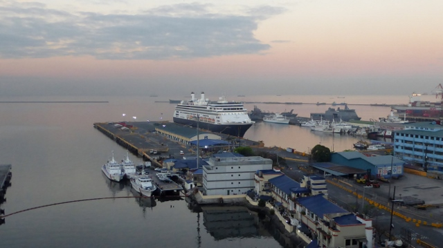 And then the MS Amsterdam at Sunrise.
