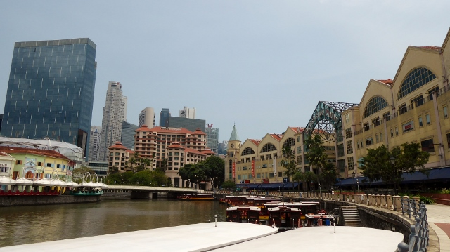Views from the Singapore River.