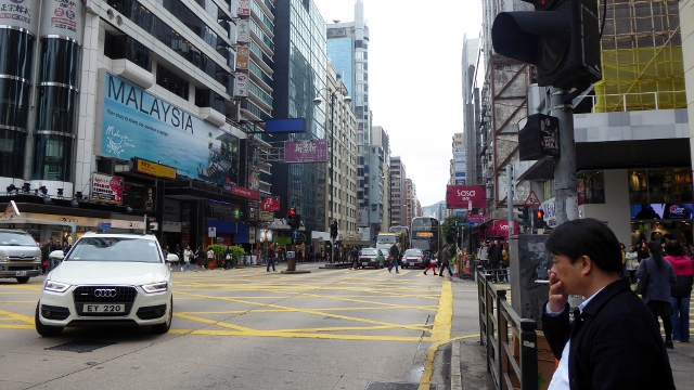 Walking the streets of Hong Kong.