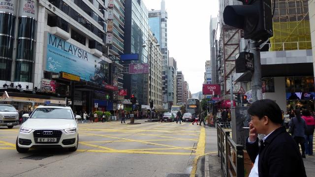 Walking the streets of Hong Kong.