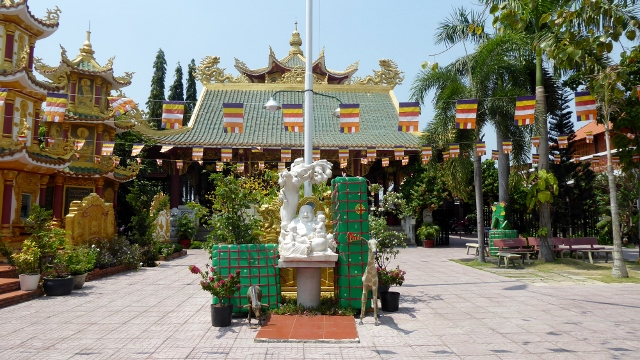 Chua Phat Linh Temple in Tan Hoa on the way to Vung Tau.