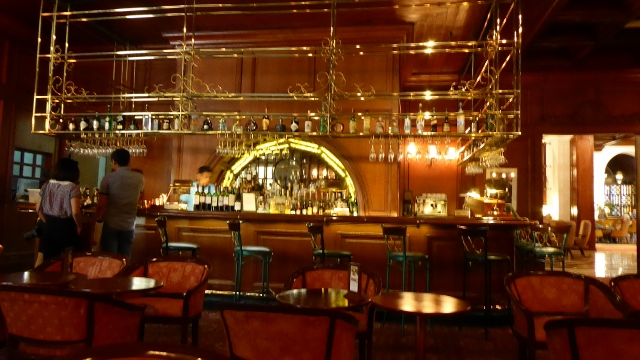 The famous Tap Room in the Manila Hotel