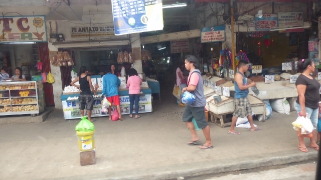 This is a typical market scene.