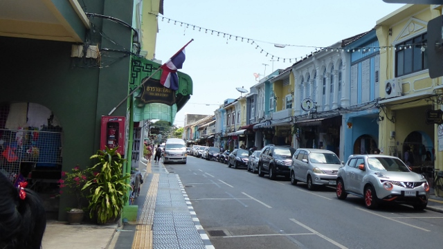 Old Town Phuket with its charming Portugese buildings.