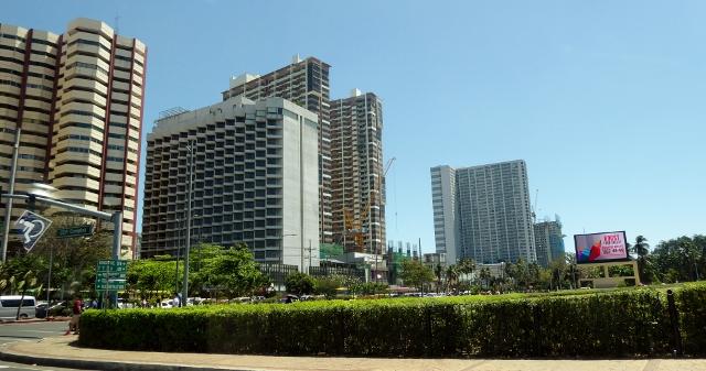 View of modern Manila