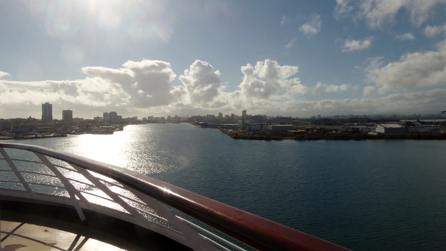 We awoke in San Juan to a bright and sunny morning.