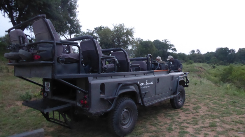 This is the awesome vehicle we used for the safari drives.