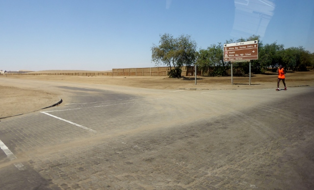 The town stops abruptly at the Namib Desert!