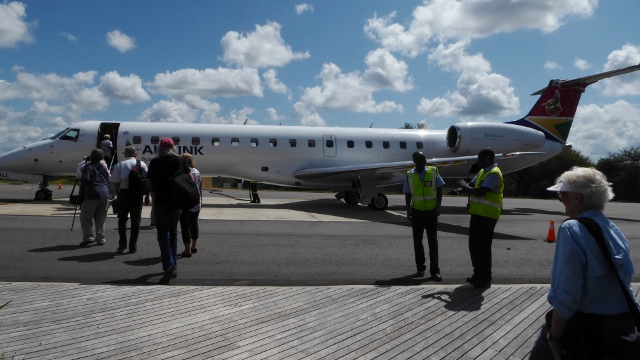 We flew an Embrear aircraft to Cape Town