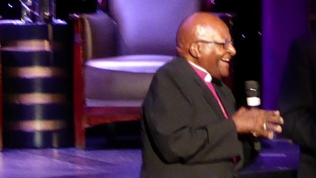 Desmond Tutu aboard the MS Amsterdam