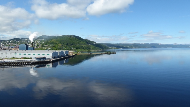 On the dock in Corner Brook, Newfoundland right next to the papermill