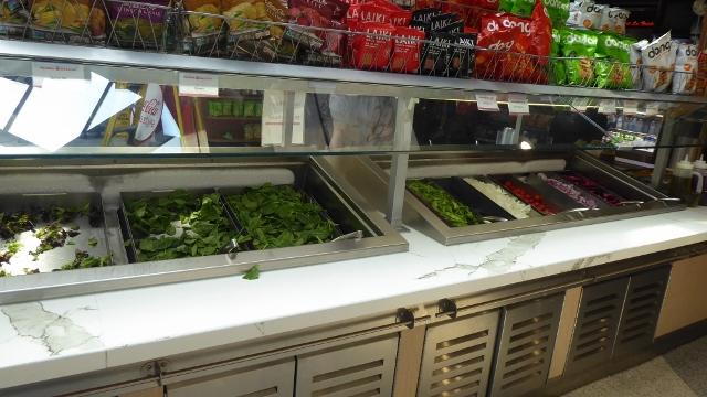Or a healthy salad bar option.