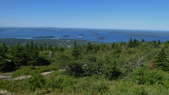 View of the MS Rotterdam and Bar Harbor from atop Cadillac Mountain.