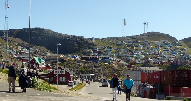 A view of the town as we walk back towards the ship.