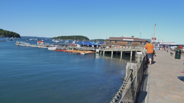 Returning to the Bar Harbor Town Pier to catch the tender back to the ship.