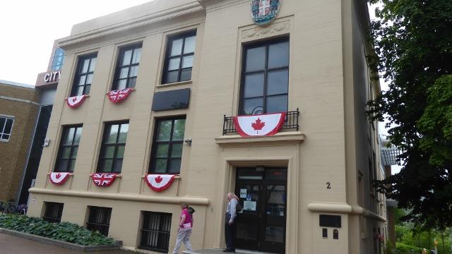 The Corner Brook Museum is next door to the City Hall.