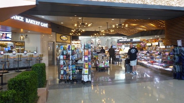 Global Bazaar has books and magazines.