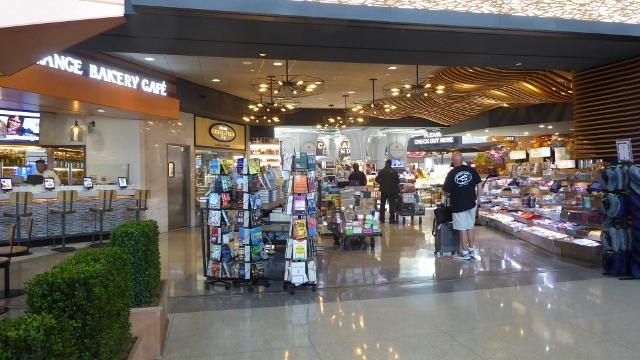 Global Bazaar has books and magazines.