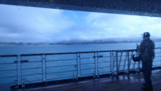 It's a grey,cold, windy day in Greenland!