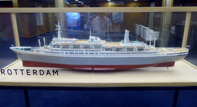 Model of the SS Rotterdam as she looked in the 1950s.