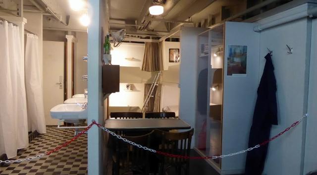 The engine room crew quarters.
