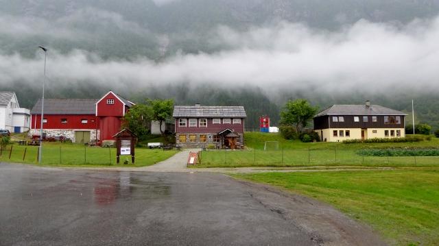 Eidfjord town view.