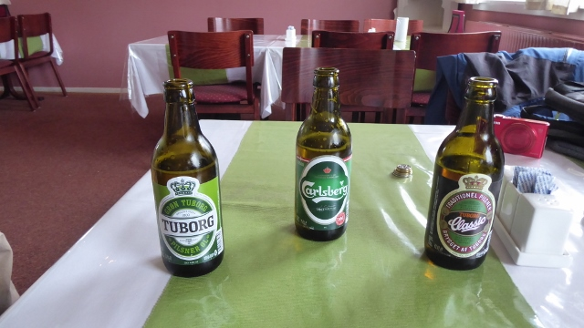 There were 3 beer choices at this hotel--all 3 from Denmark.