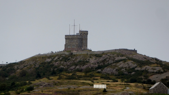 This is Cabot Tower, atop Signal Hill.