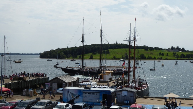 The famous Bluenose II going out for a sail.