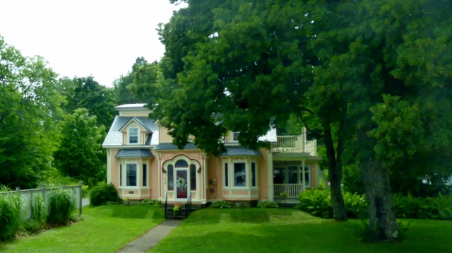 Leaving Lunenburg and heading to Mahone Bay we pass many beautiful homes.