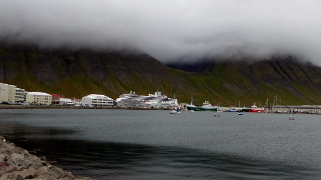 And this is Skutululsfjordur Bay where our ship is docked.