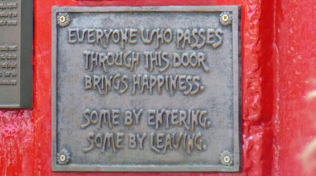 Temple Bar signage--so true!