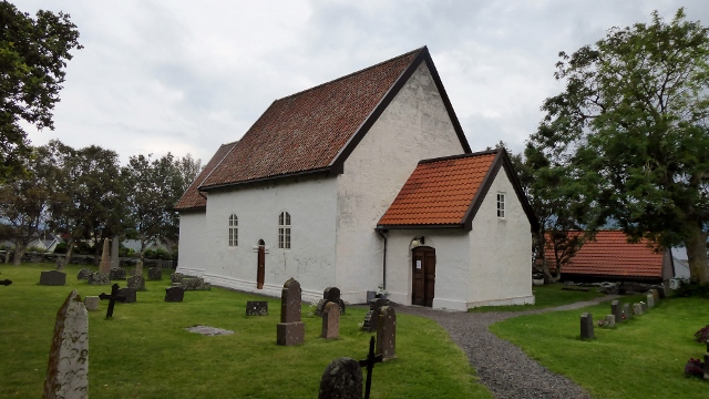 The church on the island of Giske built around 1050.