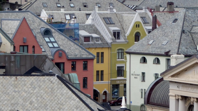 The architecture of Alesund.