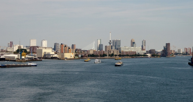 And we wave goodbye to the lovely city of  Rotterdam.