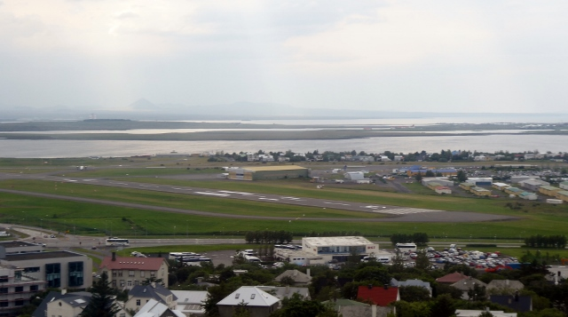 The Reykjavik Domestic Airport, right in the middle of the city!