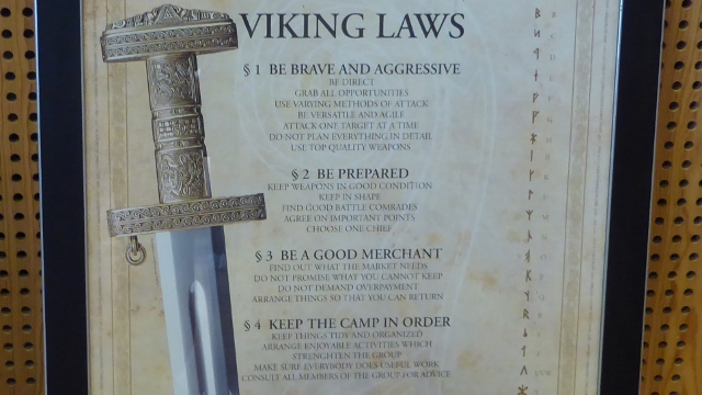 And I will close this post with the Viking Laws!