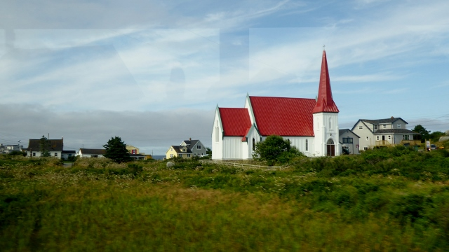 Arriving in Peggy's Cove.