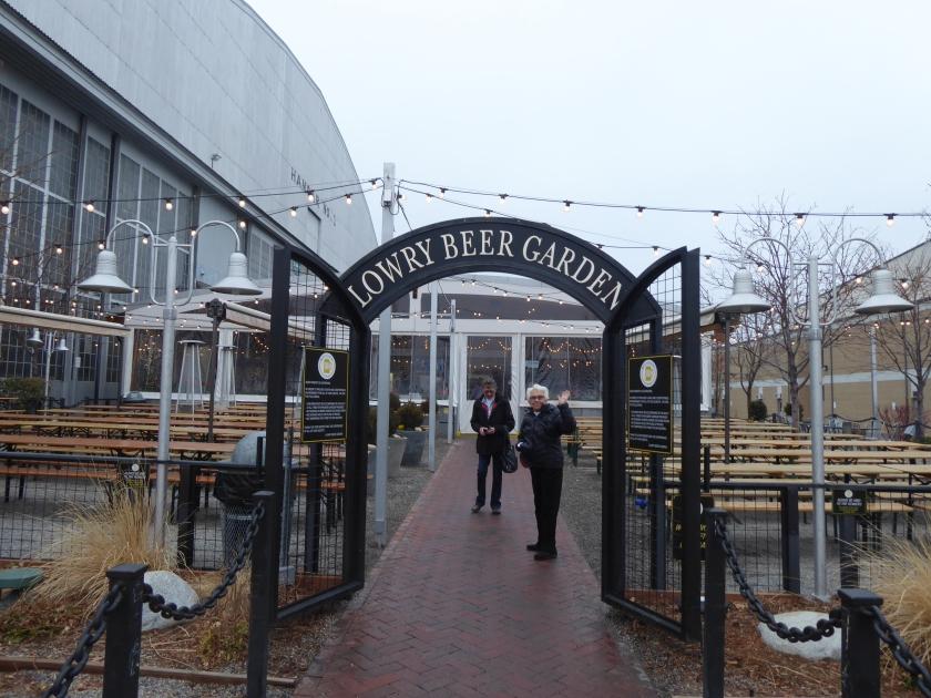 The Lowry Beer Garden is right next door to the museum.  Convenient!