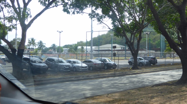 The ball field first used during the American custody of the Panama Canal.