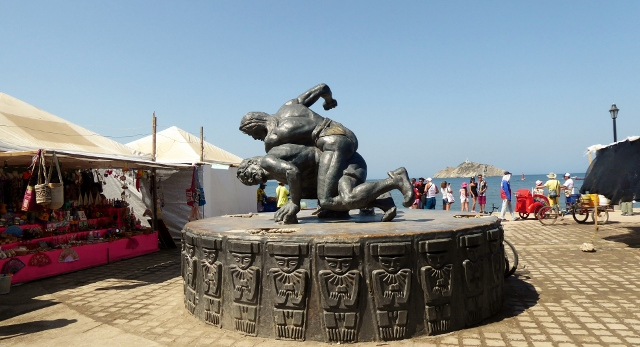 Artwork is present all along the Malecon.  As are vendors.  And the beach!