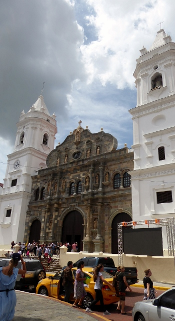 The cathedral in Casco Viejo.