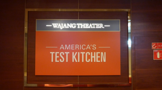 America's Test Kitchen aboard the MS Amsterdam.