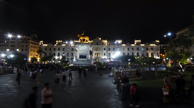 St. Martin Plaza at night.