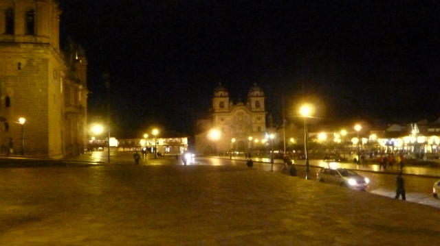 Nightime in Plaza de Armes Cusco