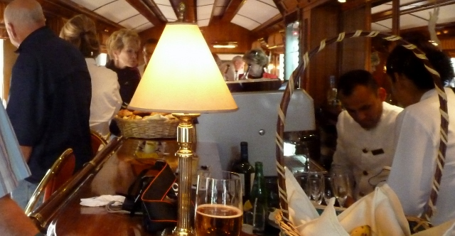 The bar in the observation car was always busy!